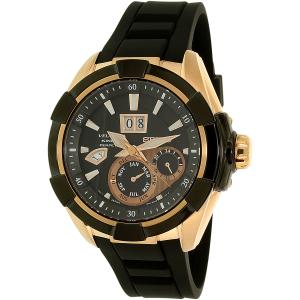 Seiko Men's SNP104 Black Silicone Seiko Kinetic Watch