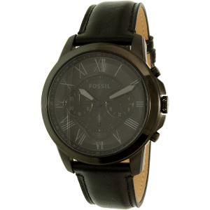 Fossil Men's Grant FS5147SET Black Leather Quartz Watch