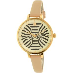 Kate Spade Women's Metro KSW1031 Gold Leather Quartz Watch
