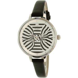 Kate Spade Women's Metro KSW1032 Black Leather Quartz Watch