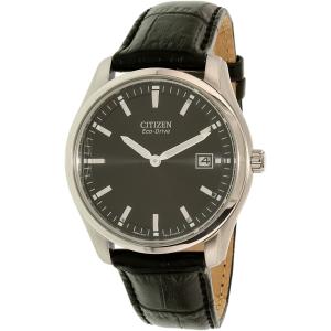 Citizen Men's Eco-Drive AU1040-08E Black Leather Eco-Drive Watch