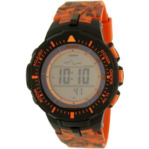 Casio Men's Pro Trek PRG300CM-4 Orange Resin Quartz Watch