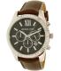 Michael Kors Men's Lexington MK8456 Silver Leather Quartz Watch - Main Image Swatch