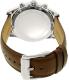 Michael Kors Men's Lexington MK8456 Silver Leather Quartz Watch - Back Image Swatch