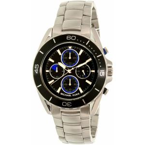 Michael Kors Men's Jetmaster MK8462 Silver Stainless-Steel Quartz Watch
