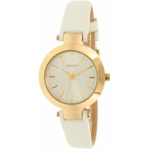 Dkny Women's Stanhope NY2404 Gold Leather Quartz Watch