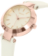Dkny Women's Stanhope NY2405 Rose Gold Leather Quartz Watch - Side Image Swatch