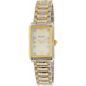 Bulova Women's Diamond 98P144 Silver Stainless-Steel Quartz Watch
