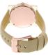 Michael Kors Women's Kempton MK2486 Rose Gold Leather Quartz Watch - Back Image Swatch