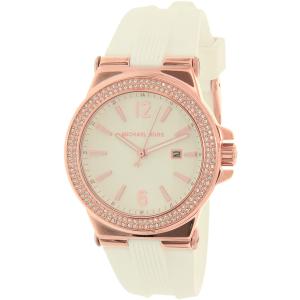 Michael Kors Women's Dylan MK2491 White Silicone Quartz Watch