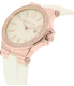 Michael Kors Women's Dylan MK2491 White Silicone Quartz Watch - Side Image Swatch