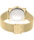 Michael Kors Women's Kempton MK3496 Gold Stainless-Steel Quartz Watch - Back Image Swatch