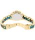 Michael Kors Women's Bradshaw MK6318 Gold Stainless-Steel Quartz Watch - Back Image Swatch