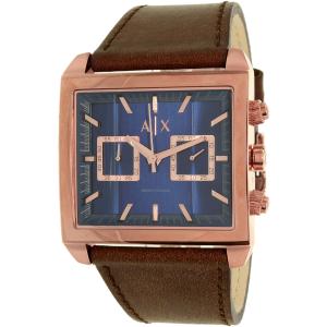 Armani Exchange Men's AX2225 Rose Gold Leather Quartz Watch