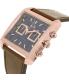 Armani Exchange Men's AX2225 Rose Gold Leather Quartz Watch - Side Image Swatch