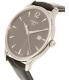 Tissot Men's Tradition T063.610.16.087.00 Grey Leather Swiss Quartz Watch - Side Image Swatch