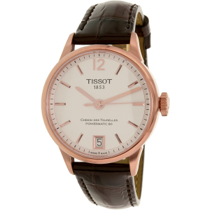 Tissot Men's T-Classic T099.207.36.037.00 Brown Leather Swiss Automatic Watch