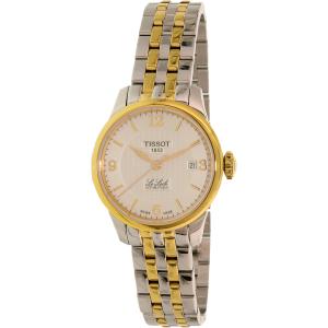 Tissot Women's T-Classic T41.2.183.34 Gold/Silver Stainless-Steel Swiss Quartz Watch