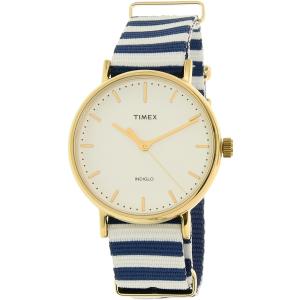 Timex Women's Weekender TW2P91900 Gold Nylon Quartz Watch