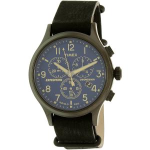 Timex Men's Expedition TW4B04200 Black Leather Quartz Watch