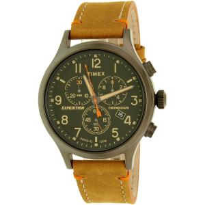 Timex Men's Expedition TW4B04400 Brown Leather Analog Quartz Watch