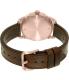 Nixon Men's A4591890 Brown Leather Swiss Quartz Watch - Back Image Swatch