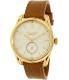 Nixon Men's A4592227 Gold Leather Swiss Quartz Watch - Main Image Swatch