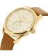 Nixon Men's A4592227 Gold Leather Swiss Quartz Watch - Side Image Swatch
