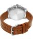 Nixon Men's A4652064 Silver Leather Swiss Quartz Watch - Back Image Swatch