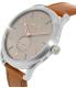 Nixon Men's A4652064 Silver Leather Swiss Quartz Watch - Side Image Swatch