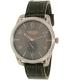 Nixon Men's A4652145 Grey Leather Swiss Quartz Watch - Main Image Swatch