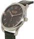 Nixon Men's A4652145 Grey Leather Swiss Quartz Watch - Side Image Swatch