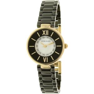 Anne Klein Women's AK-2178BKGB Black Ceramic Analog Quartz Watch