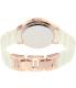 Anne Klein Women's AK-1948WTRG White Ceramic Quartz Watch - Back Image Swatch