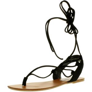 Steve Madden Women's Walkitt Suede Ankle-High Leather Sandal