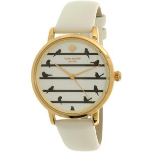 Kate Spade Women's Metro KSW1043 White Leather Quartz Watch