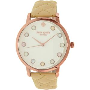 Kate Spade Women's Metro KSW1069 Beige Leather Quartz Watch