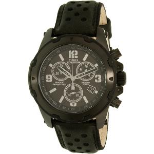 Timex Men's Expedition TW4B01400 Black Leather Analog Quartz Watch