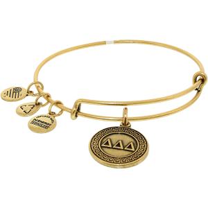 Alex And Ani Women's Delta Delta Delta Rafaelian Gold Charm Bracelet