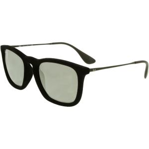 Ray-Ban Women's Mirrored  RB4187-60756G-54 Black Square Sunglasses