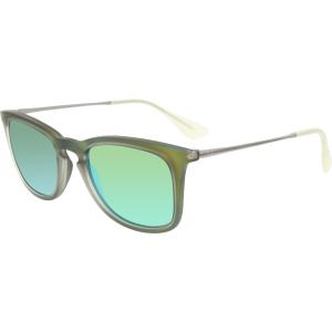 Ray-Ban Women's Mirrored  RB4221-61693R-50 Green Wayfarer Sunglasses