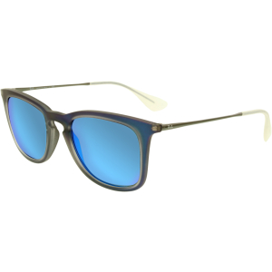 Ray-Ban Men's Mirrored  RB4221-617055-50 Blue Square Sunglasses