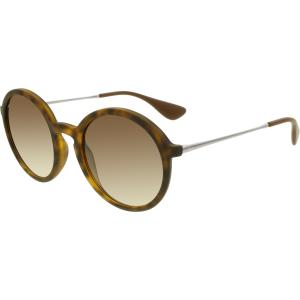 Ray-Ban Women's Gradient  RB4222-865/13-50 Tortoiseshell Round Sunglasses