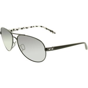 Oakley Women's Feedback OO4079-05 Black Aviator Sunglasses