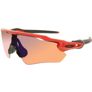 Oakley Men's Polarized Radar Ev Path OO9208-08 Red Semi-Rimless Sunglasses
