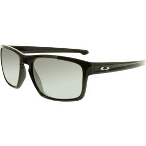 Oakley Men's Polarized Sliver OO9262-09 Black Square Sunglasses