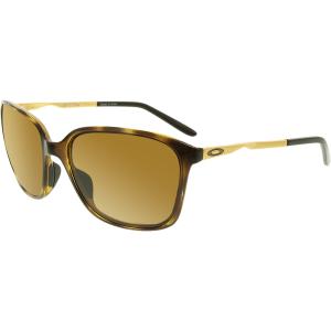 Oakley Women's Polarized Game Changer OO9291-02 Tortoiseshell Square Sunglasses