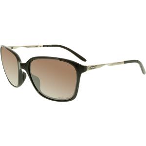 Oakley Women's Polarized Game Changer OO9291-03 Black Wayfarer Sunglasses