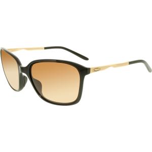 Oakley Women's Gradient Game Changer OO9291-04 Black Butterfly Sunglasses