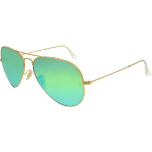 Ray-Ban Men's Polarized  RB3025-112/P9-58 Gold Aviator Sunglasses